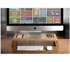 Office Desk Risers Prosumer S Choice Bamboo Imac Monitor Stand Riser