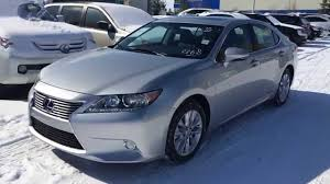 lexus es300h used car 2014 lexus es 300h hybrid premium package review in silver