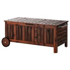 äpplarö storage bench outdoor brown stained 128x57 cm ikea