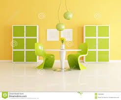 yellow and green dining room stock photo image 15855980