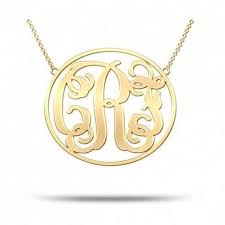 Gold Plated Monogram Necklace Monogram Necklaces U2013 My Boho Jewelry