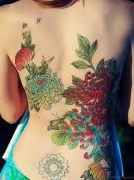 70 lovely flowers tattoos on back