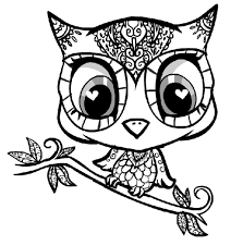 cute owl coloring pages to print 9172