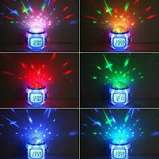 light projection alarm clock joystar sky star night light projector l bedroom alarm clock with