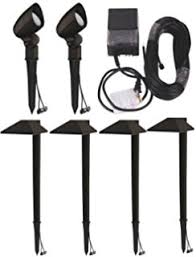 Malibu Led Landscape Lighting Kits 12 Lighting Kit Malibu Led Black Pathway Bollard Lights