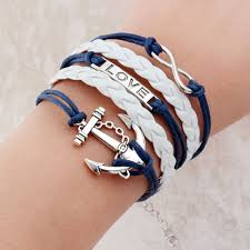 double charm bracelet images New fashion jewelry infinite double leather multilayer charm jpg