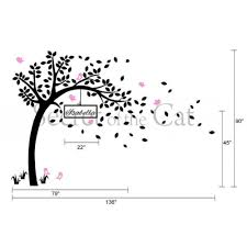nursery tree wall decal with customized name wall sticker baby nursery tree wall decal with customized name wall sticker