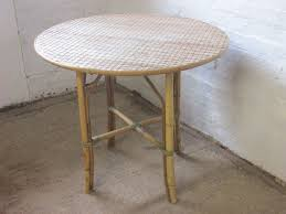 Vintage Style Patio Furniture - vintage style cane u0026 wicker round table u0026 four chairs patio or