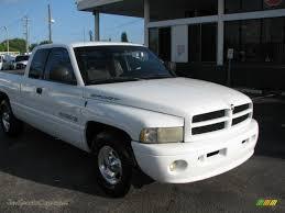 white dodge truck 1999 dodge ram 1500 sport extended cab in bright white 651177