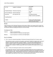 Sample Project Coordinator Resume by Logistics Coordinator Resume Objective Corpedo Com