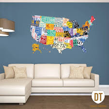 Usa License Plate Map license plate wall art license plate usa map