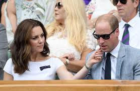 kate middleton and prince william very love up as they watch roger