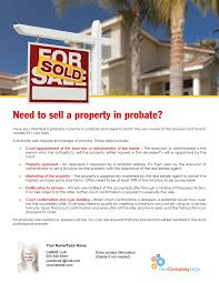farm need to sell a property in probate first tuesday journal