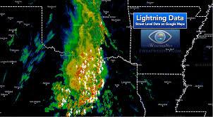Google Maps Dallas Texas by Latest Lightning Strikes On Google Maps U2014 Iweathernet