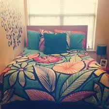 colorful bedding brings your dull college stylish dorm room