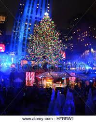 84th rockefeller center tree lighting in new york city