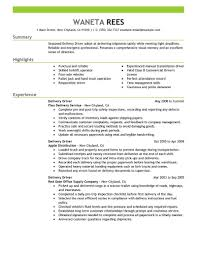 exle of a resume summary delivery driver resume sle driver resumes livecareer