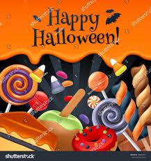 halloween striped background paper halloween sweets colorful party background lollipop stock vector