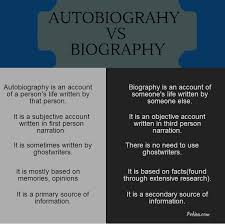 Biography An Autobiography Difference | difference between autobiography and biography