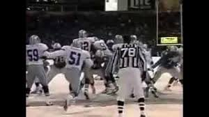 nfl thanksgiving day 1993 lett field goal mess up yt