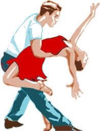 imagenes en movimiento bailando pareja de baile en una danza movimiento vector imágenes prediseñadas