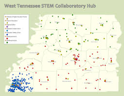 Tennessee Area Code Map by West Tennessee Stem Hub Partnering For Stem Success Science