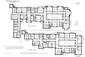 Big Houses Floor Plans First And Second Floor Plans Of Bearwood House Bearwood House
