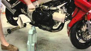 honda vfr750 oil change youtube