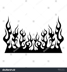 flame vector tribal black tribal flame stock vector 422886391