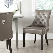 Overstock Com Chairs Safavieh Harlow Clay Ring Chair Set Of 2 Mcr4716d Set2 Grey