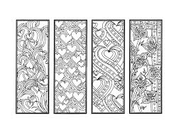 diy valentine u0027s day bookmarks printable coloring page
