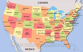 map of usa showing states and capitals and major cities map of us capitals lapiccolaitalia info