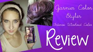 temporary hair color for halloween review garnier color styler intense washout color youtube