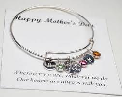 s day bracelet with birthstones birthstone bracelet etsy