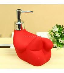 unique soap dispenser unique sculpture shape ceramic red soap dispenser xs 2014 wholesale