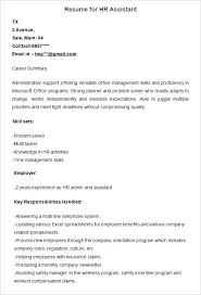 resume summary exles human resources assistant skills resume resume for human resources assistant sle resource