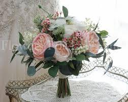 artificial wedding flowers silk bridal bouquet etsy