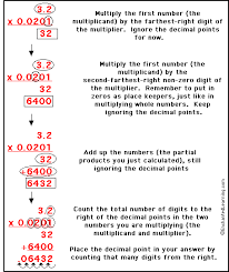 multiplying decimals enchantedlearning com