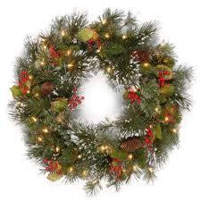pre lit wreath pre lit christmas wreaths garland christmas decorations the