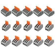 excellway et25 2 3 5 pins spring terminal block 5pcs electric