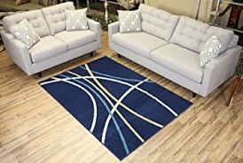9 X 6 Area Rugs Amazon Com Modela Collection Stripes Abstract Contemporary Modern