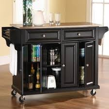 kitchen island cart stainless steel top black kitchen islands carts you ll wayfair