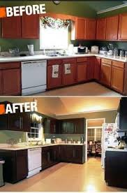 Painting Kitchen Cabinets Black Our Oak Kitchen Makeover Oak Kitchen Cabinets Subway Tile
