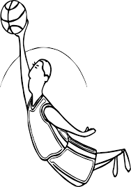 playing basketball jump man coloring page wecoloringpage