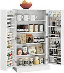 cabinet storage in kitchen home bi kitchen pantry cabinet storage cabinet with 5 shelves storage organizer for kitchenware cupboard space saving cabinet white
