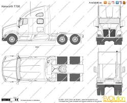 kenworth t700 the blueprints com vector drawing kenworth t700