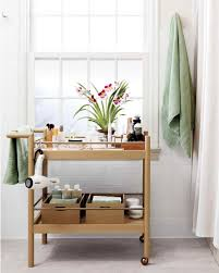Bathroom Storage Cart Smart Space Saving Bathroom Storage Ideas Martha Stewart
