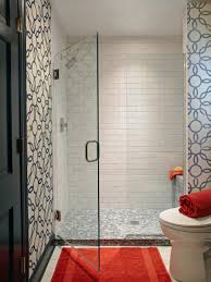 White And Blue Tiles In Bathroom Rooms Viewer Hgtv