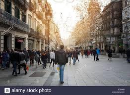 passeig de l u0027angel barcelona spain shopping street with