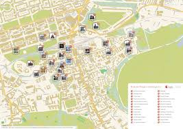 map attractions edinburgh printable tourist map sygic travel